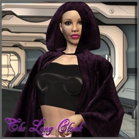 The Long Cloak 3D Figure Assets Nathalie_