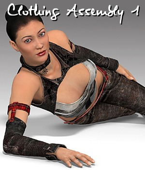 Clothing Assembly 1 for V4 3D Figure Essentials idler168