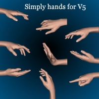 Simply Hands for V5 3D Figure Assets Khory_D