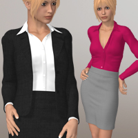 Office Suit IV 3D Figure Assets 3D-Age