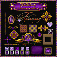 Birthstone Bling!: February-Amethyst 2D 3D Models fractalartist01
