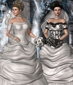 Wedding Dress V4,A4,G4 & S4 3D Figure Assets RPublishing