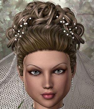 Wedding UpDo Hair V4/A4/G4/S4/A2 & Anastasia 3D Figure Assets RPublishing