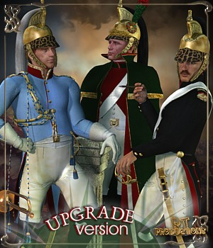 RT-Napoleonic M4 - Dragoons UPGRADE 3D Figure Assets 3D Models -renapd-