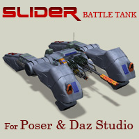 Slider Battle Tank Themed Props/Scenes/Architecture Simon-3D