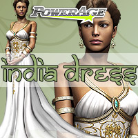 India Dress 3D Figure Assets 3D Models powerage