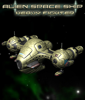 Alien Heavy Fighter Craft 3D Models Simon-3D