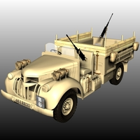 LRDG Chevrolet ( for Poser ) 3D Models Nationale7