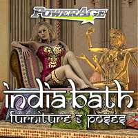 India Furniture & V4 poses 3D Figure Assets 3D Models powerage