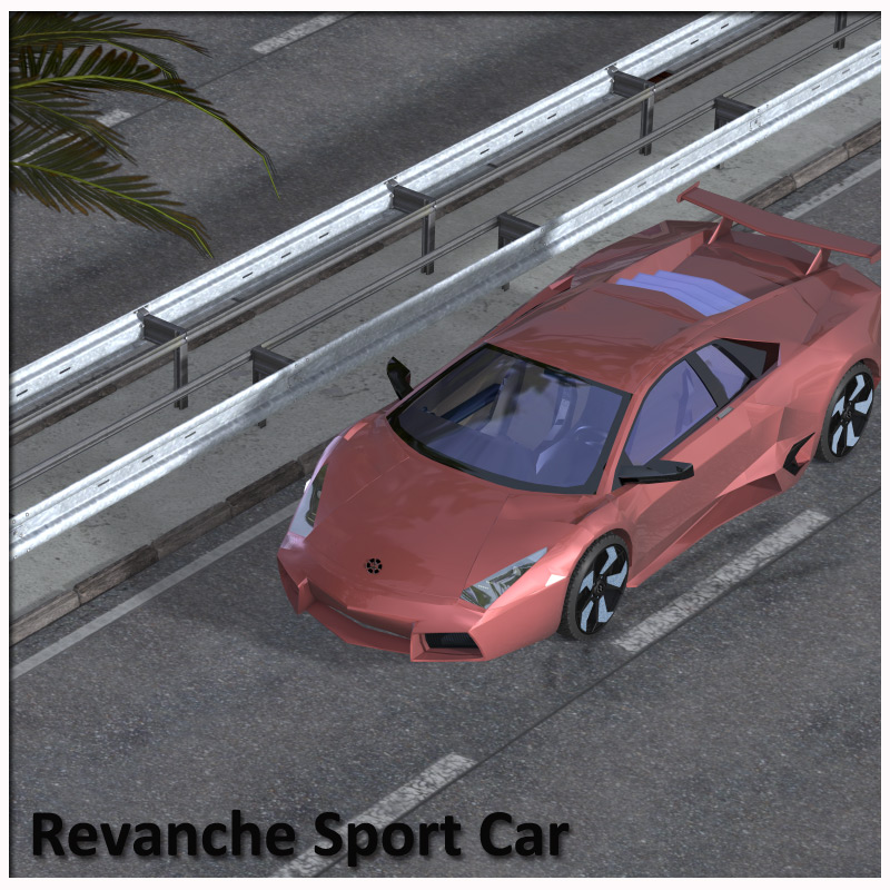 Revanche Sport Car for Poser and Vue by RPublishing