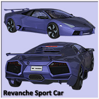 Revanche Sport Car for Poser and Vue image 1