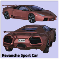 Revanche Sport Car for Poser and Vue image 2