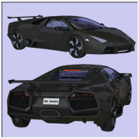 Revanche Sport Car for Poser and Vue image 4