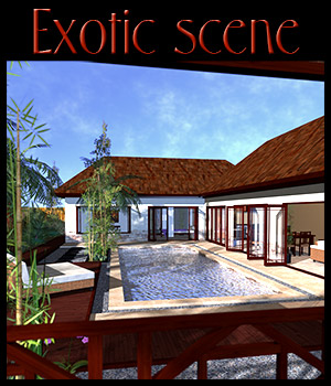 Tropical villa, Bali 3D Models 2nd_World