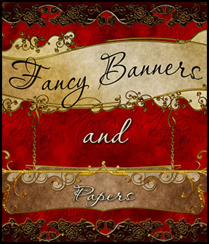 Fancy Banners & Papers 2D Graphics antje