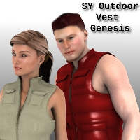 Sickle Outdoor Vest Genesis 3D Figure Assets SickleYield
