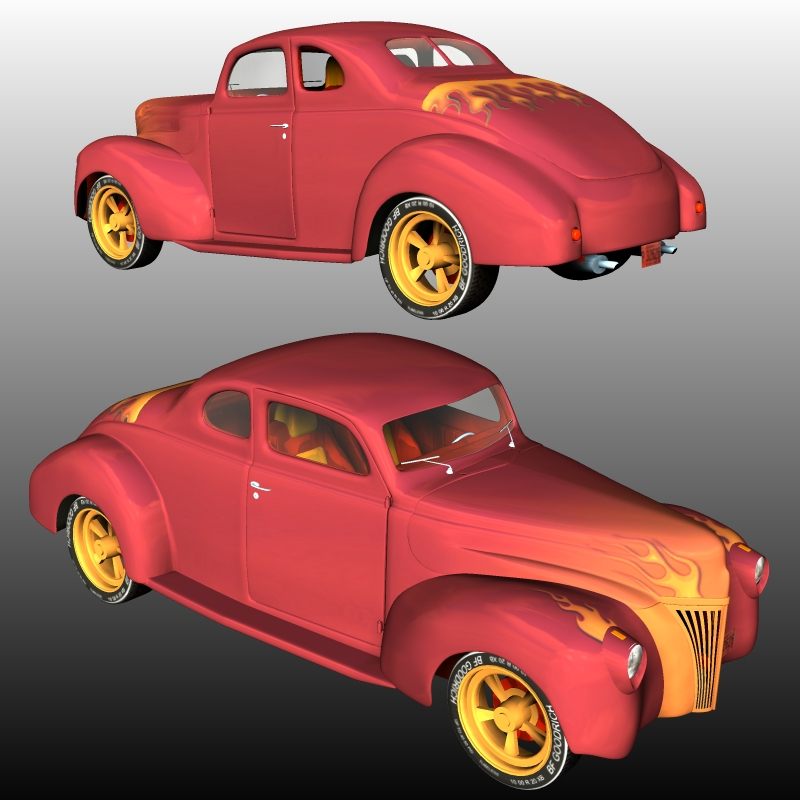 FORD COUPE 1940 HotRod ( for Poser )