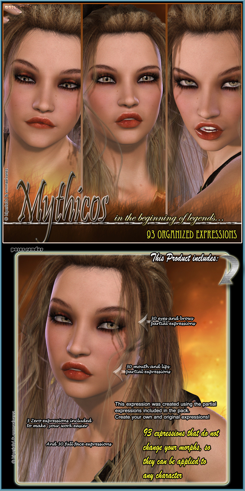Mythicos 93 Organized Expressions