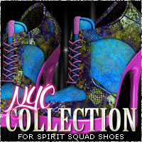 NYC for Spirit Squad Sporty Heels 3D Figure Essentials 3DSublimeProductions