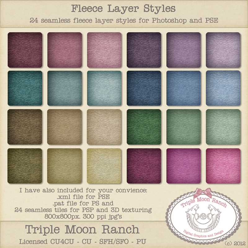 Fleece Layer Styles - Pattern File and Seamless Tiles
