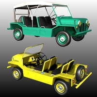 MINI MOKE beach buggy 3D Models 3DClassics