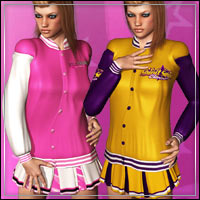 SPIRIT SQUAD COLLEGE STYLE for FASHIONWAVE College 3D Figure Essentials outoftouch
