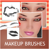 Makeup Brushes 2D Graphics Atenais