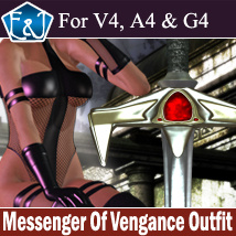 Messenger Of Vengeance Outfit For V4/A4/G4 3D Figure Assets EmmaAndJordi