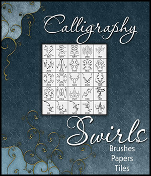 Calligraphy Swirls 2D Graphics antje
