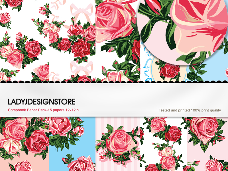 English Rose - Seamless Paper Pack