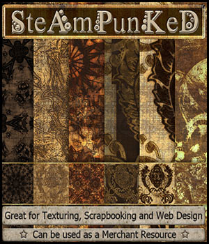 ABC Steampunked 2D Graphics 3D Models Bez