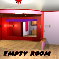 Empty room 3D Models greenpots