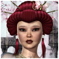 Cherry Blossom Hair 3D Figure Essentials 3D Models Propschick