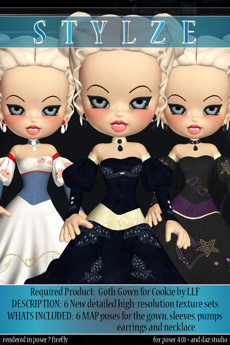 stylze for Goth Gown for Cookie