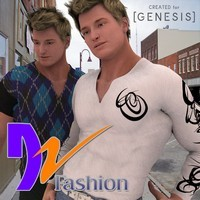 DZ M4 Fashion Set 01 for Genesis 3D Figure Assets dzheng