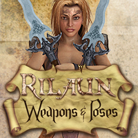 Rilaun Weapons and Poses 3D Models 3D Figure Assets pixeluna