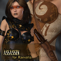 Assassin for Raevalia 3D Figure Assets kaleya