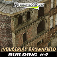 Industrial Brownfield: Building 4 3D Models powerage