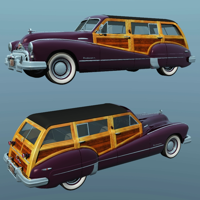 buick roadmaster estate wagon 1947 3d models 3dclassics