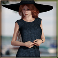 Dynamic Retro Dress 01 for V4 and GNDA 3D Figure Assets vyktohria