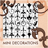 Mini Decorations 2D And/Or Merchant Resources Atenais
