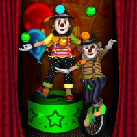Hein Clown 3D Figure Assets 3DTubeMagic