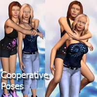 Cooperative Poses 3D Figure Essentials apcgraficos