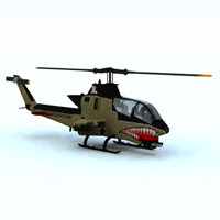 AH-1 Cobra Helicopter (for Vue) Transportation Themed Digimation_ModelBank