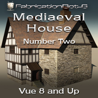 FB6 Mediaeval House 02 - Country / Town House 3D Models FabricationBot-6
