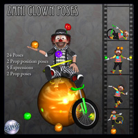 Zani Clown Poses Software Poses/Expressions Edain