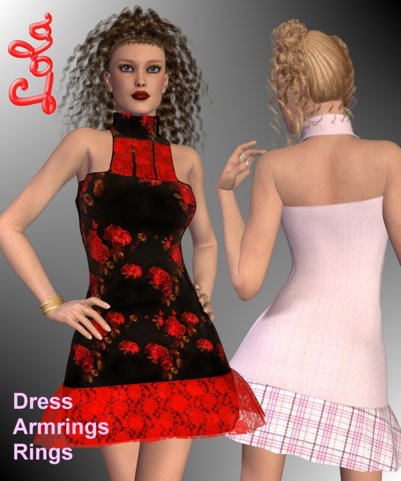 Lola Dress and Jewels for V4-S4-Elite-A4-Alice