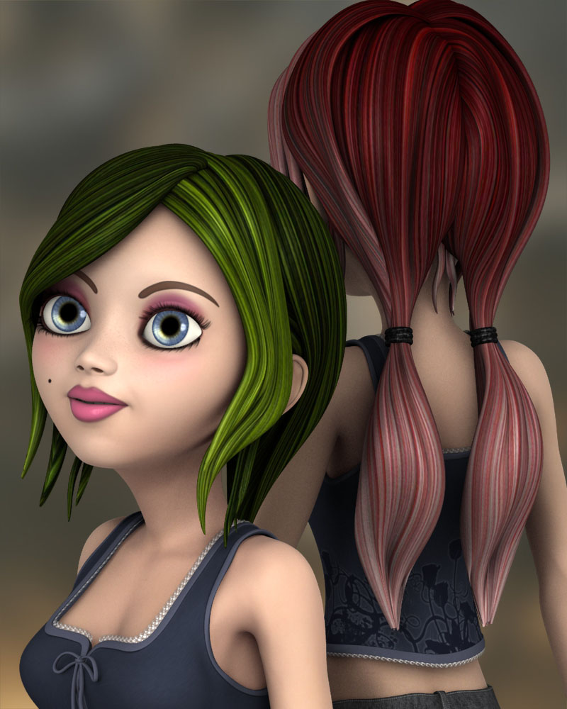 Spring Color for Toon Amy Hair