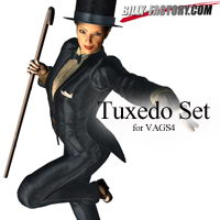 Tuxedo Set for VAGS4 3D Figure Assets billy-t