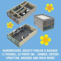 Hairdressing Salon, Beauty Parlour & Nail Bar 3D Models VanishingPoint